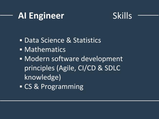 مهارتهای مهندس هوش مصنوعی