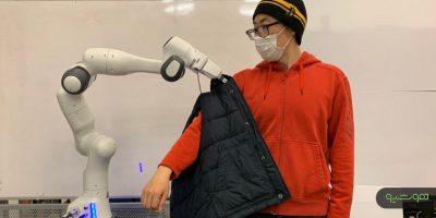 ربات هوشمند لباس پوشیدن